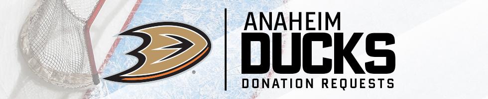 Anaheim Ducks - Donation Request Form